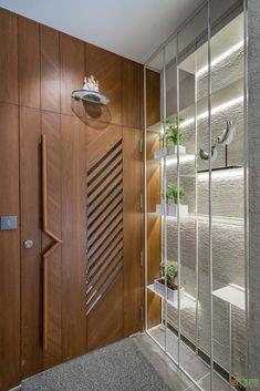House Main Door Design, Wooden Main Door Design, Pooja Room Door Design, Door Design Interior, Foyer Design, Wall Design, Modern Wooden Doors, Modern Entrance Door, Main Entrance Door Design