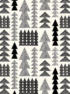 Nordic Forest Wallpaper Sale – Black & White - Cream
