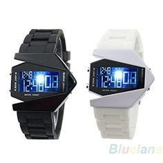 Sportsy Cool MenS Oversized Light Digital Sports Quartz Rubber Wrist Watches Black * You can find out more details at the link of the image.