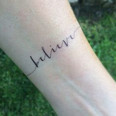 Believe Tattoo Arm Tattoo Temporary Tattoo Fake Tattoo
