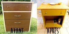 Peindre un meuble en bois avec de la peinture à la craie | Colorantic Deco Retro, Filing Cabinet, Dresser, Storage, Furniture, Aide, Home Decor, Glass Garden, Chalk Painting