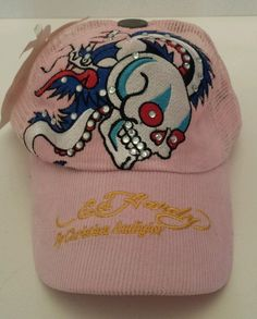 72182fd6 Ed Hardy Cap Christian Audigier New York City Pink Vintage Tattoo Wear NWT  in Clothing,