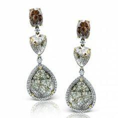 Simon G Rose Colored Diamond Dangle Earrings