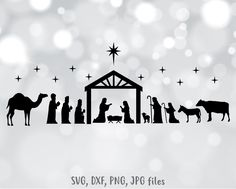Check out our cricut files christmas selection for the very best in unique or custom, handmade pieces from our shops. Nativity Silhouette, Silhouette Files, Silhouette Studio Designer Edition, Bunny And Bear, Personalized T Shirts, Christmas Svg, Vinyl Projects, Svg Files For Cricut, Business Card Design
