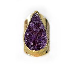 amethyst druzy ring | kei jewelry