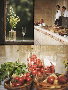 Italian Garden Wedding Rustic Table Setting