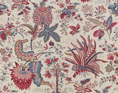 Upholstery fabric / floral pattern / cotton MARQUIS DE SEIGNELAY : TOILE DE JOUY Braquenié