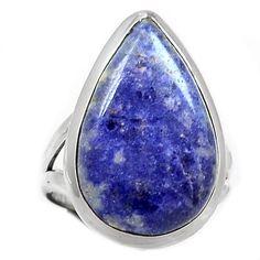 Sodalite 925 Sterling Silver Ring Jewelry s.8 SDOR127 - JJDesignerJewelry