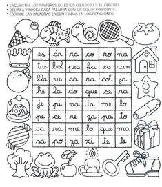Mi primer etapa escolar : Fichas de apoyo para fortalecer la lectura y escritura Spanish Activities, Learning Spanish, Learning Activities, Elementary Spanish, Spanish Lessons, Literacy, Homeschool, Letters, Teaching