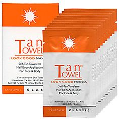 Love these: TanTowel - Classic Self-Tan Towelette For Face