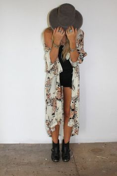 Lollapalooza eat your heart out, this look is one way to prepare for all of the elements here in Chicago, whether it's a cool night or a bright summer day, Lolla is around the corner!  Cardigan: kimono boho hippy summer white long kimono