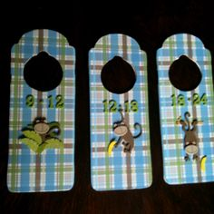 Dividers for baby clothes