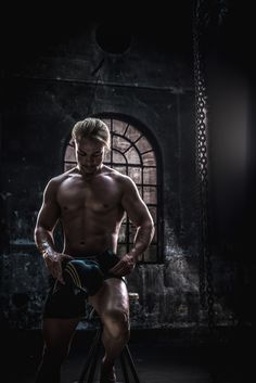 The Challenge Model | David Keywords: male model, man, fitness, fit, sexy, blond, workout, photoshoot, rugged, boxing, boxing bag, fashion, photography