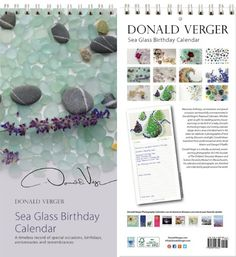 nice Donald Verger Sea Glass Beach Glass Birthday and Anniversary Perpetual Wall Desk Fine Art Books and Calendars version #2 - Unique and Great Nature Gifts for Valentine's Day, Mothers's Day, Father's Day. Stocking Stuffers, Christmas, XMas & Holidays for Him, Her, Women, Men, Husband, Wife, Mom, Dad, Son, Daughter - Updated 2014