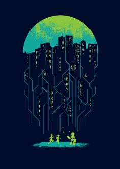 Displate poster electricity eletric robot city future kids wired night moon hud and futuristic interface by maximgertsen on creativemarket Graphisches Design, Creative Design, Plakat Design, Poster Prints, Art Prints, Grafik Design, Corporate Design, Graphic Design Inspiration, Graphic Design Posters