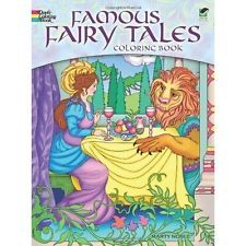 Adult Coloring Book Famous Fairy Tales Designs Anti Stress Creative Relaxing