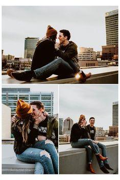Poses Pour Photoshoot, Rooftop Photoshoot, Salt Lake City, Photo Couple, Couple Shoot, Urban Engagement Photos, Engagement Session, Wedding Ideias, Poses Photo