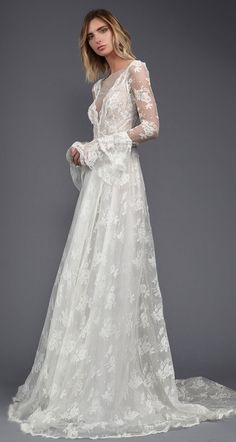 Victoria KyriaKides Spring 2017 | https://www.theknot.com/content/victoria-kyriakides-dresses-bridal-fashion-week-spring-2017