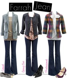 Farrah is back! She even more fabulous in a dark rinse that makes it look like a trouser!