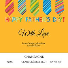 For those who want to give something a little different without losing sight of the fact that every father's dearest wish on Father's Day is for more ties. Happy Fathers Day, Ireland, Champagne, Ties, Happy Valentines Day Dad, Tie Dye Outfits, Neck Ties, Irish, Tie