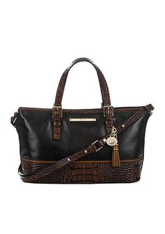 Brahmin Mini Asher Satchel Tuscan Tri Texture Collection