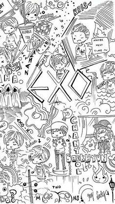 Find images and videos about kpop, exo and baekhyun on We Heart It - the app to get lost in what you love. Kpop Fanart, Taemin, Baekhyun, Park Chanyeol, K Pop, Bts Art, Kai, L Wallpaper, Wallpaper Quotes