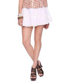 Textured Dot Skirt - StyleSays