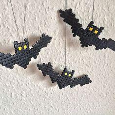 Bats Halloween hama beads by simony43