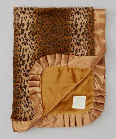Look at this #zulilyfind! Tan Cheetah Faux Fur Stroller Blanket by Pickles #zulilyfinds