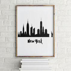 NEW YORK CITY, Inspirational Art,New York Printable Art,New York Black And White,State,Home Decor,Wall Decor,Digital Art,New York Poster