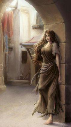Game Concept of Hiding female slave inside broken Castle