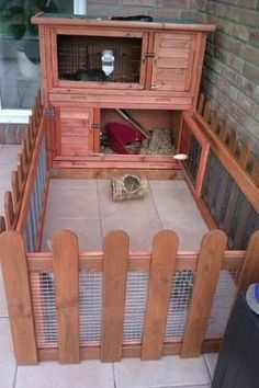Some interesting ideas for making hutches for rabbits. Pictures are taken from the Pinterest and there are hutches for outdoors as well as hutches for