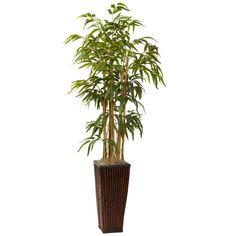 4Ft Bamboo w/Decorative Planter