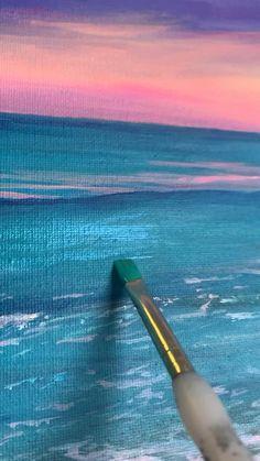 Acrylic Art, Acrylic Painting Canvas, Canvas Art, Art Painting Gallery, Aesthetic Painting, Landscape Art, Gouache, Watercolor Art, Artsy