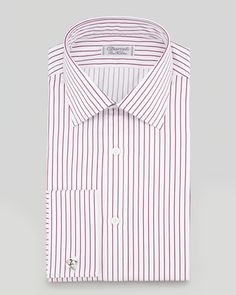 White Vertical Striped Dress Shirt by Charvet. Buy for $585 from Neiman Marcus