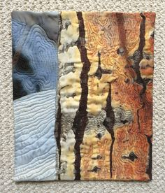 art quilt interpretation of Aspen tree trunk