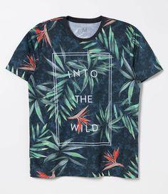 Camiseta masculina  Manga curta  Floral  Marca: Blue Steel  Tecido: meia malha  Composição: 100% poliéster  Modelo veste tamanho: M       COLEÇÃO VERÃO 2017     Veja outras opções de    camisetas masculinas.