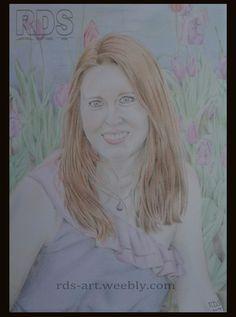 Jess F. Redhead portrait drawing www.rds-art.weebl... #redhead #ginger #drawing #pencil #RDS-art