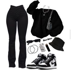Swaggy Outfits, Baddie Outfits Casual, Swag Outfits For Girls, Teen Fashion Outfits, Retro Outfits, Cute Casual Outfits, Stylish Outfits, Street Mode, Jugend Mode Outfits