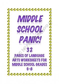 Middle School Panic: 32 Pages of Independent and Meaningful Language Arts Work