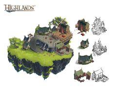 Highlands Production Art, François Coutu on ArtStation at https://www.artstation.com/artwork/highlands-production-art