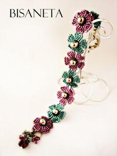 Bisaneta: GUMDROPS IN MY GARDEN  #beadwork