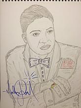 MICHAEL JACKSON DRAWING: JACKIE WILSON.