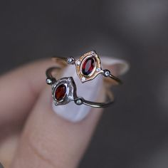 HAWTHORNE. Detailed Ruby Gold Ring – REGALROSE