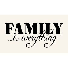 My family!... I have one sister and one brother. My Mum and Dad and my dog.