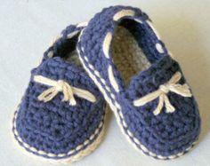 Crochet Pattern - Bébé - mocassins superbe pack de modèle Lil 'est livré avec tous les 4 variations - numéro de modèle 120