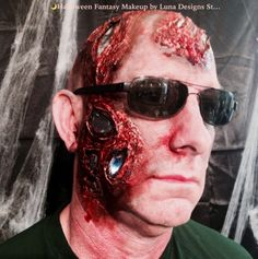 Terminator...Extreme Halloween Make-up Design...by Luna Designs Studio! Interested contact us at (413)322-8788