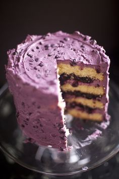 Blueberry Cake by zoebakes #Cake #Blueberry