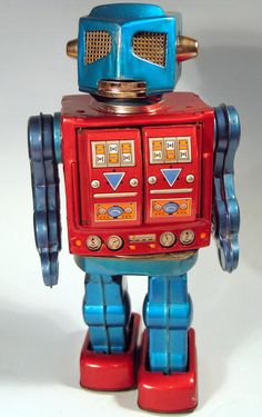 Image detail for -Japanese Space Tin Robot W/ Guns Battery Operated