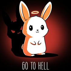 dibujos kawaii Go To Hell Cute Cartoon Drawings, Cute Animal Drawings, Kawaii Drawings, Cute Cartoon Wallpapers, Animes Wallpapers, Funny Bunnies, Cute Bunny, Anime Animals, Cute Animals